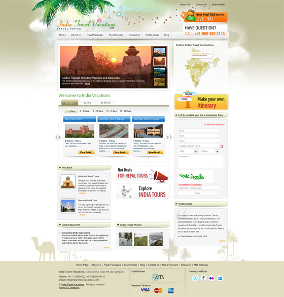 India Travel Vacations